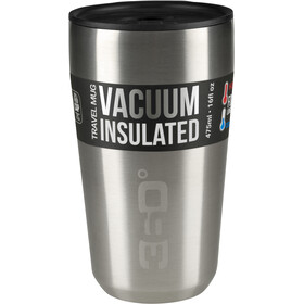 360° degrees Vacuum Travel Mug Large 475ml, silver